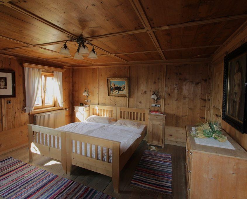 Blick ins Schlafzimmer im Ferienhaus